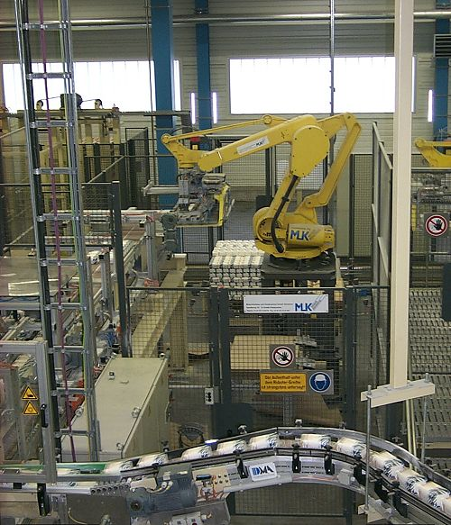 Palletizing robot cell